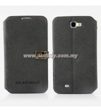 Samsung Galaxy Note 2 N7100 D-Protection Leather Case - Black