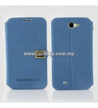 Samsung Galaxy Note 2 N7100 D-Protection Leather Case - Blue
