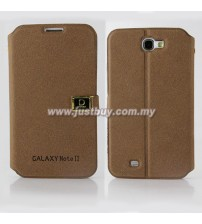 Samsung Galaxy Note 2 N7100 D-Protection Leather Case - Brown