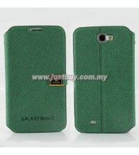 Samsung Galaxy Note 2 N7100 D-Protection Leather Case - Green
