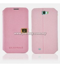 Samsung Galaxy Note 2 N7100 D-Protection Leather Case - Pink