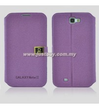 Samsung Galaxy Note 2 N7100 D-Protection Leather Case - Purple
