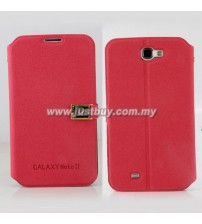 Samsung Galaxy Note 2 N7100 D-Protection Leather Case - Red