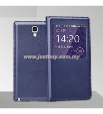 Samsung Galaxy Note 3 Neo OEM S-View Flip Cover - Dark Blue