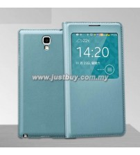 Samsung Galaxy Note 3 Neo OEM S-View Flip Cover - Light Blue