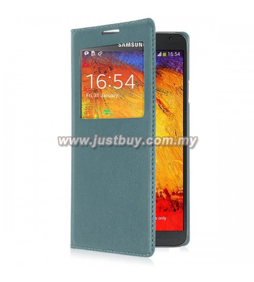 buy samsung galaxy note 3 neo oem s view flip cover light blue malaysia. Black Bedroom Furniture Sets. Home Design Ideas