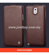 Samsung Galaxy Note 3 HOCO Premium Genuine Leather Case - Brown