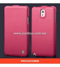 Samsung Galaxy Note 3 HOCO Premium Genuine Leather Case - Pink