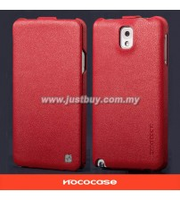 Samsung Galaxy Note 3 HOCO Premium Genuine Leather Case - Red
