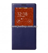 Samsung Galaxy Note 3 OEM S-View Flip Cover - Dark Blue