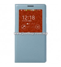 Samsung Galaxy Note 3 OEM S-View Flip Cover - Light Blue