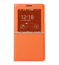 Samsung Galaxy Note 3 OEM S-View Flip Cover - Orange