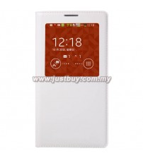 Samsung Galaxy Note 3 OEM S-View Flip Cover - White