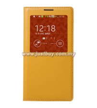 Samsung Galaxy Note 3 OEM S-View Flip Cover - Yellow