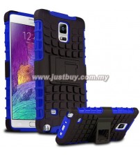 Samsung Galaxy Note 4 Dual Armor Composite Stand Case - Blue