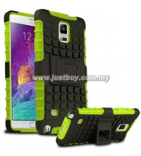 Samsung Galaxy Note 4 Dual Armor Composite Stand Case - Green