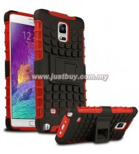 Samsung Galaxy Note 4 Dual Armor Composite Stand Case - Red