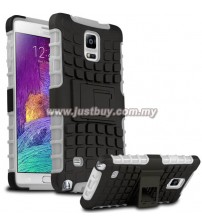 Samsung Galaxy Note 4 Dual Armor Composite Stand Case - White