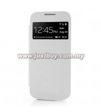 Samsung Galaxy S4 Mini OEM S-View Flip Cover - White