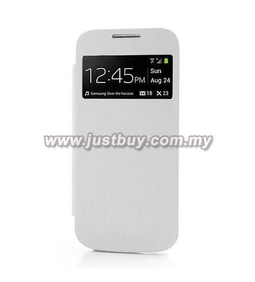 the best attitude 83aea 23880 Buy Samsung Galaxy S4 Mini OEM S-View Flip Cover - White Malaysia