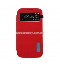 Samsung Galaxy S4 AUC S-View Flip Cover - Red