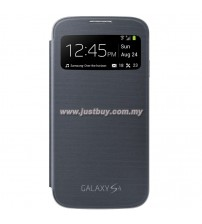 Samsung Galaxy S4 OEM S-View Flip Cover - Black