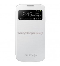 Samsung Galaxy S4 OEM S-View Flip Cover - White