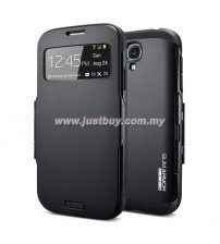 Samsung Galaxy S4 Slim Armor View Case - Smooth Black