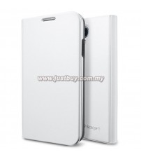 Samsung Galaxy S4 SGP Slim Wallet Folio Case - Metallic White
