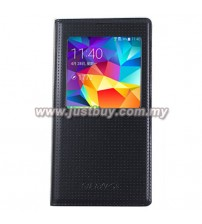 Samsung Galaxy S5 Korea Design S-View Flip Case - Black