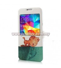 Samsung Galaxy S5 Color Print Case - Cat & Fish