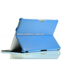 Samsung Galaxy Tab 10.1 P5100 & P7500 Premium Slim Leather Case - Blue