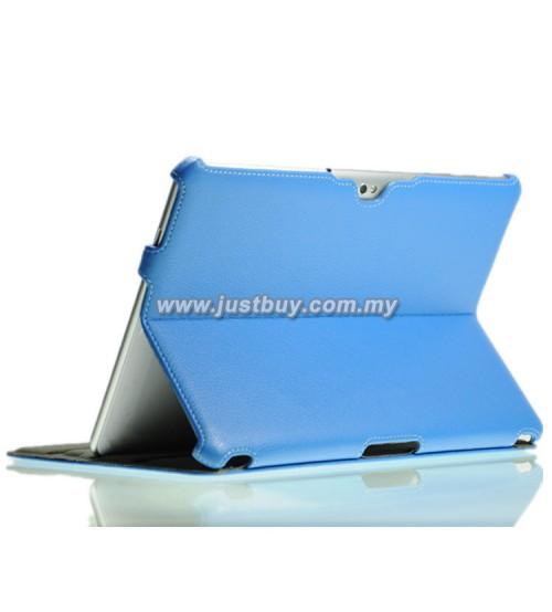 Samsung Galaxy Tab 10.1 P5100 & P7500 Premium Slim Leather Case - Blue