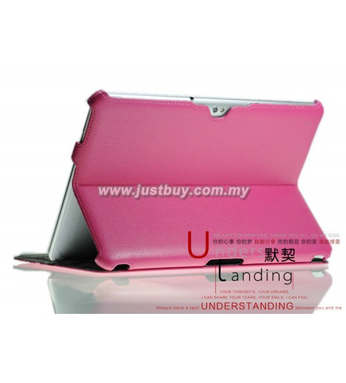 Samsung Galaxy Tab 10.1 P5100 & P7500 Premium Slim Leather Case - Pink