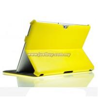 Samsung Galaxy Tab 10.1 P5100 & P7500 Premium Slim Leather Case - Yellow