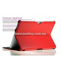 Samsung Galaxy Tab 10.1 P5100 & P7500 Premium Slim Leather Case - Red