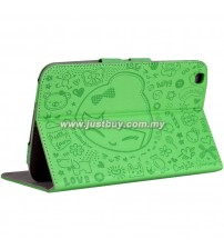 Samsung Galaxy Tab 3 7.0 Cute Pattern Leather Case - Green