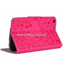 Samsung Galaxy Tab 3 7.0 Cute Pattern Leather Case - Pink