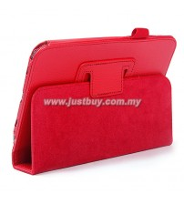 Samsung Galaxy Tab 3 7.0 T210 Leather Case - Red
