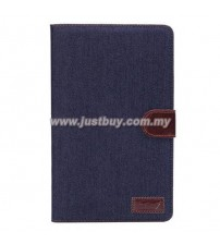 Samsung Galaxy Tab S 8.4 T700 Jeans Design Stand Case - Dark Blue