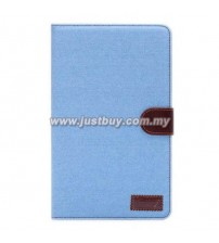 Samsung Galaxy Tab S 8.4 T700 Jeans Design Stand Case - Light Blue