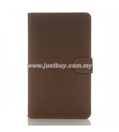Samsung Galaxy Tab A 7.0 Matte Leather Case - Brown