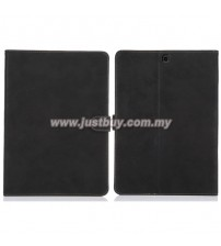 Samsung Galaxy Tab S2 8.0 Matte Leather Case - Black