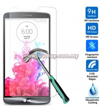 LG G3 0.26mm Ultra Thin 9H Hardness 2.5D Round Edge Tempered Glass