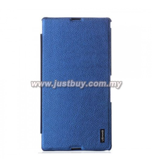 Sony Xperia Z Ultra USAMS Slim Flip Case - Dark Blue