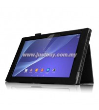 Sony Xperia Z2 Tablet Leather Case - Black