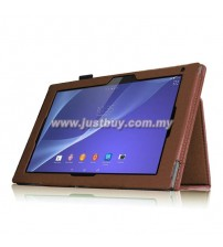 Sony Xperia Z2 Tablet Leather Case - Brown