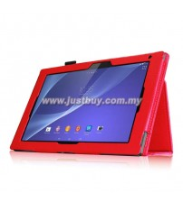 Sony Xperia Z2 Tablet Leather Case - Red