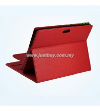 Sony Xperia Tablet S Premium Leather Case - Red