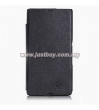 Sony Xperia Z Nillkin Leather Flip Case - Black